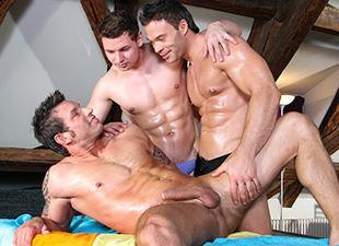 A Dick Sucking and Anal Pounding Massage!